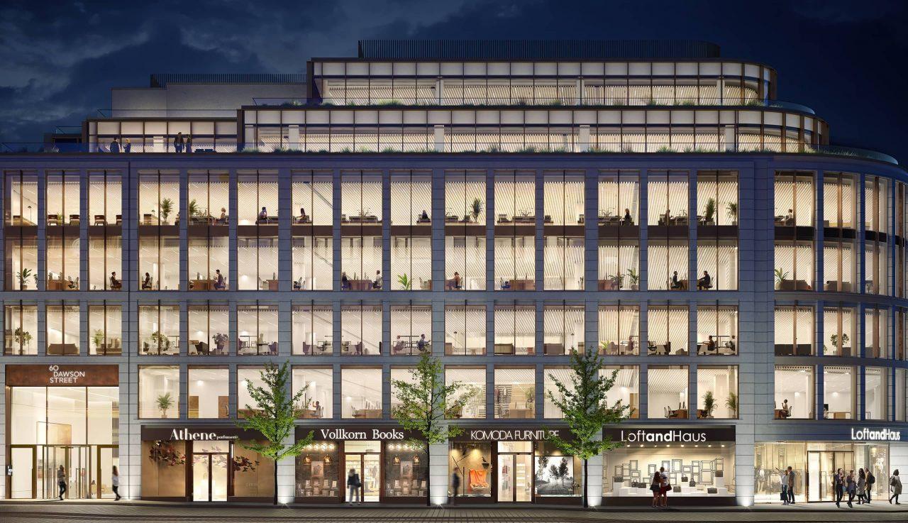 render of the 60 dawson street facade