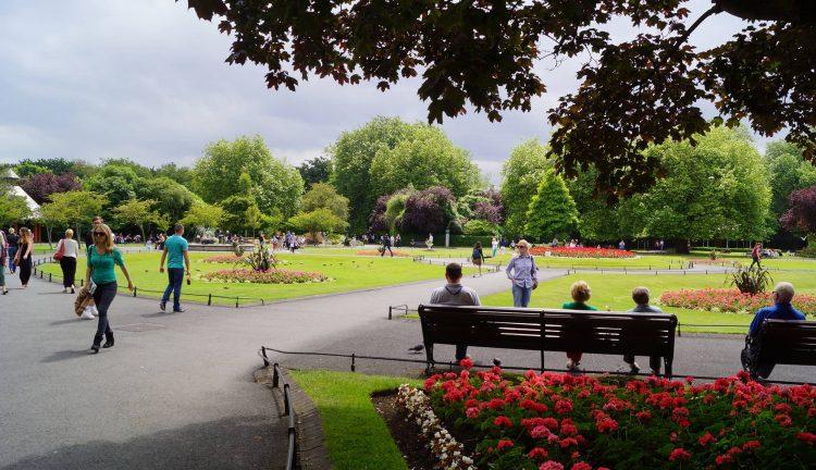 people in a park in dublin